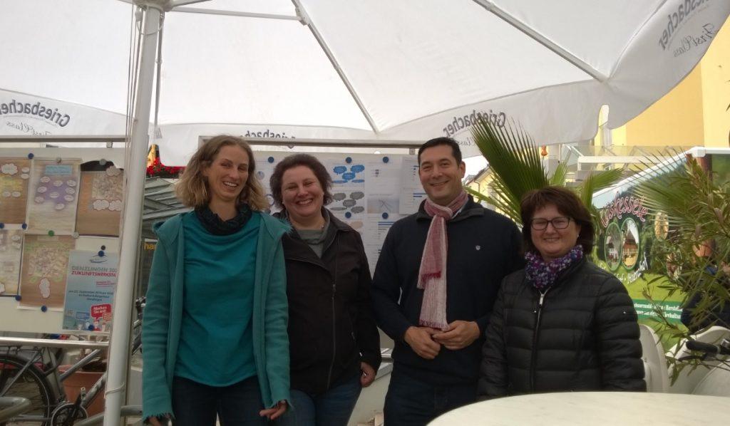 Foto GEK GR Höldin, GR Nübling, stv HAL Pfister und BM Hollemann