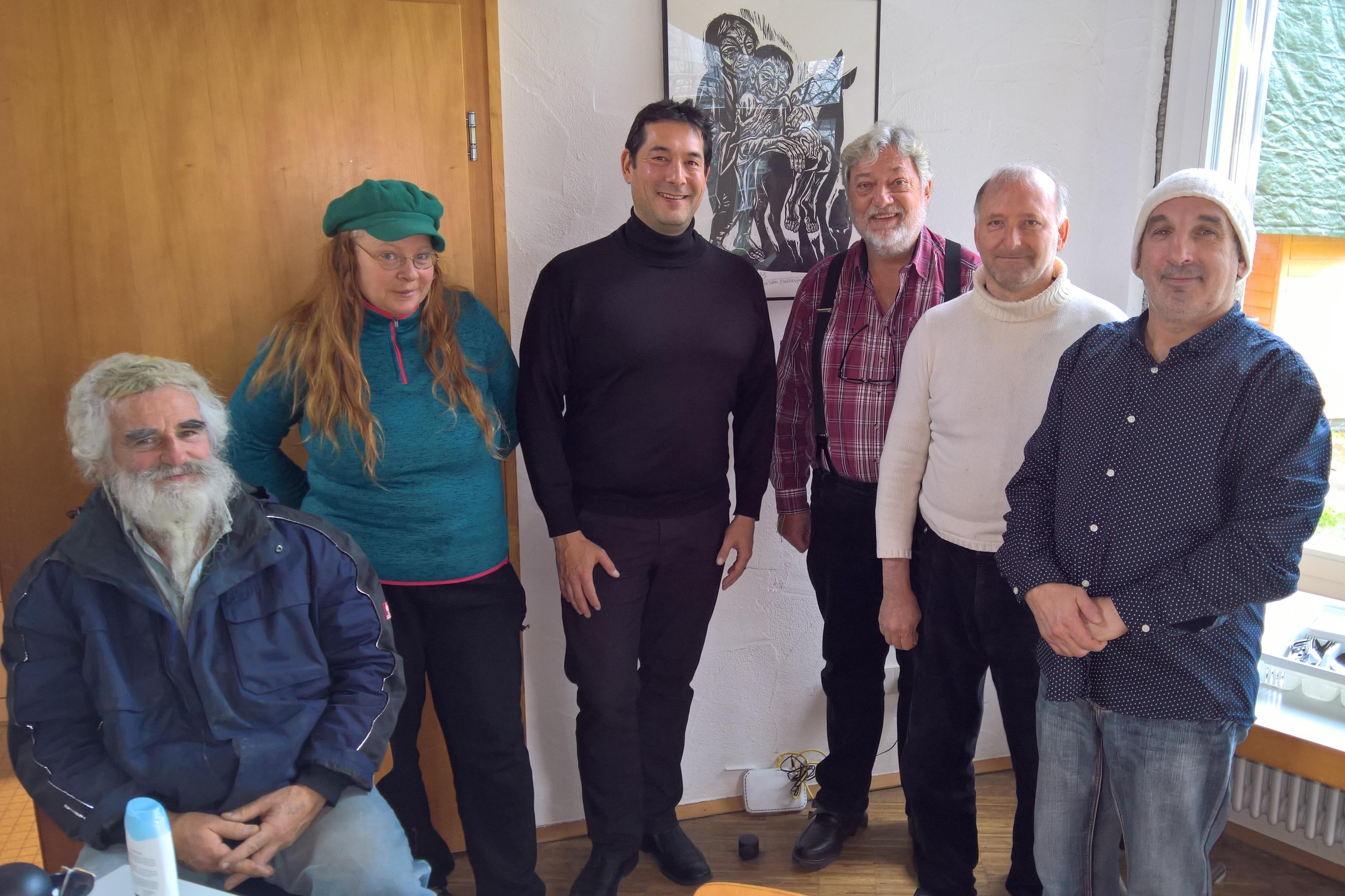 Mittagsessen Mit Bedürftigen Und Wohnungslosen Menschen Markus